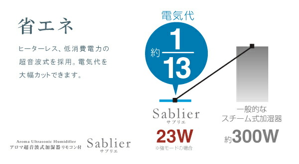 アロマ超音波式加湿器 Sablier サブリエ BBH-50