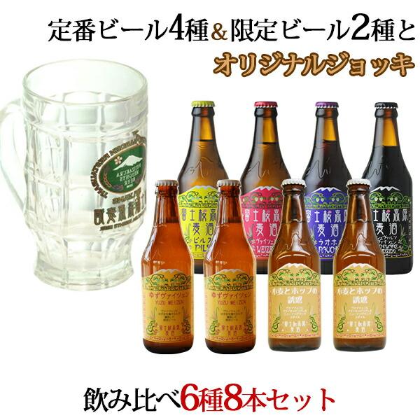 季節のクラフトビール6種8本飲み比べセット」ジョッキ付き