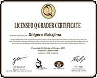 Qグレーダー資格証