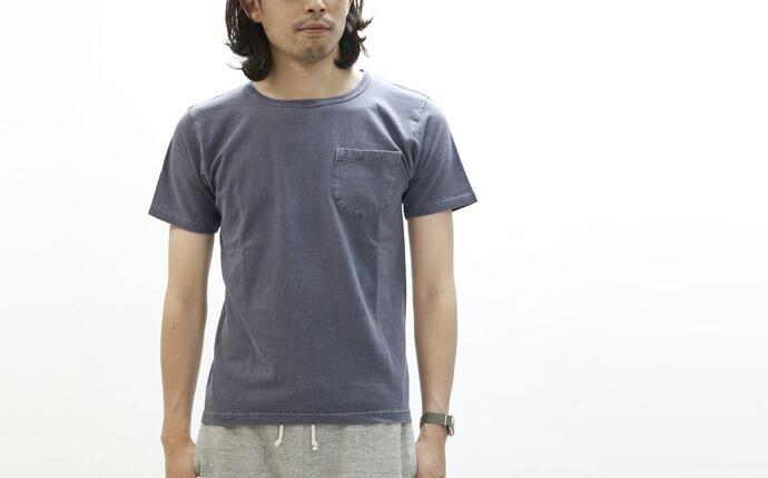 DUBBLEWORKS/ダブルワークス ポケットTシャツ ピグメントダイ