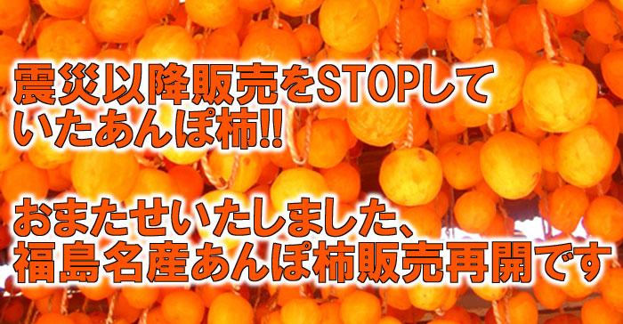 震災以降販売をSTOPしていたあんぽ柿!! おまたせいたしました、 福島名産あんぽ柿販売再開です