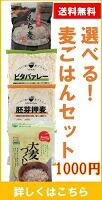 選べる麦ごはん2点セット1000円,送料無料