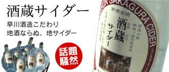 これが噂の酒蔵サイダー♪早川酒造の仕込み水を使用した贅沢サイダーです!