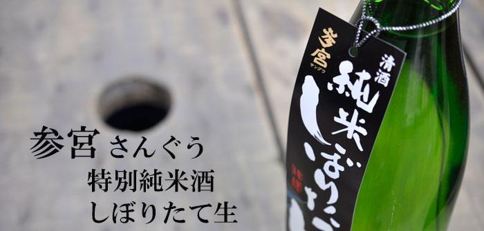 参宮 さんぐう 特別純米酒 しぼりたて生 澤佐酒造 三重 地酒