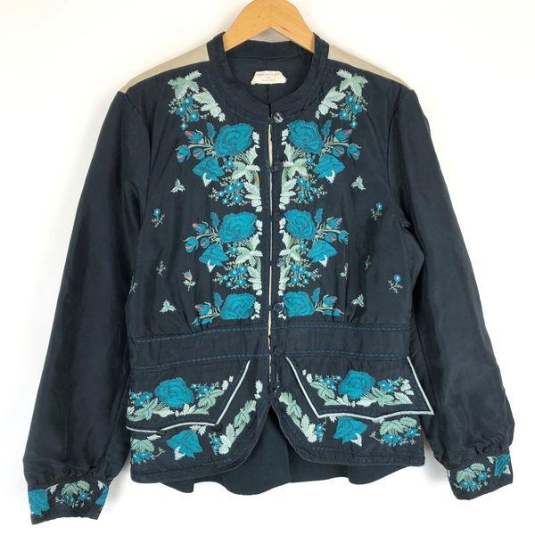 b6840b9e41291 NOA NOA レディースジャケット チャイナ風デザイン 豪華刺繍 ヴィンテージ ブラック系 レディースXL