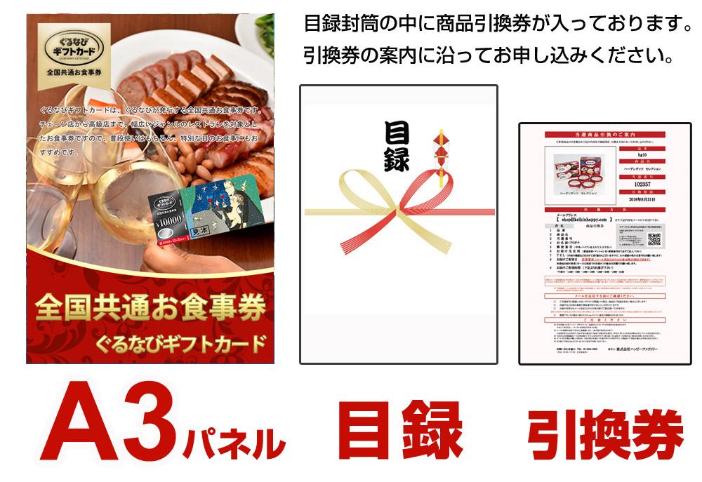 全国共通お食事券(ぐるなびギフトカード)1万円分