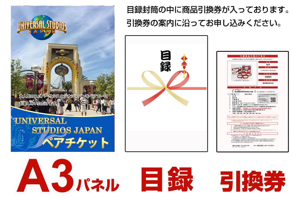 ユニバーサルスタジオジャパンペアチケット