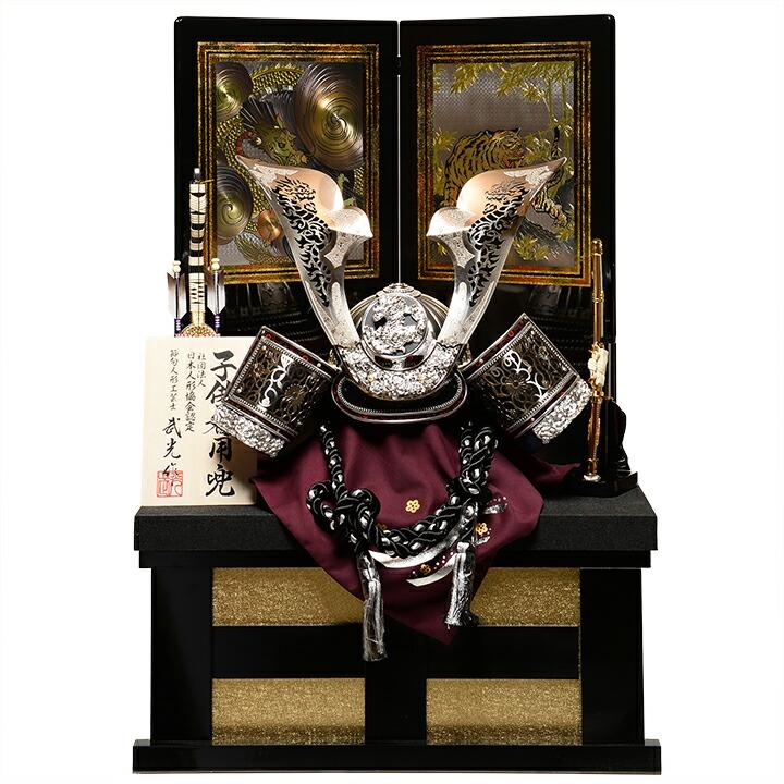 【五月人形】【コンパクト収納】【着用兜】【武将兜】【兜飾り】