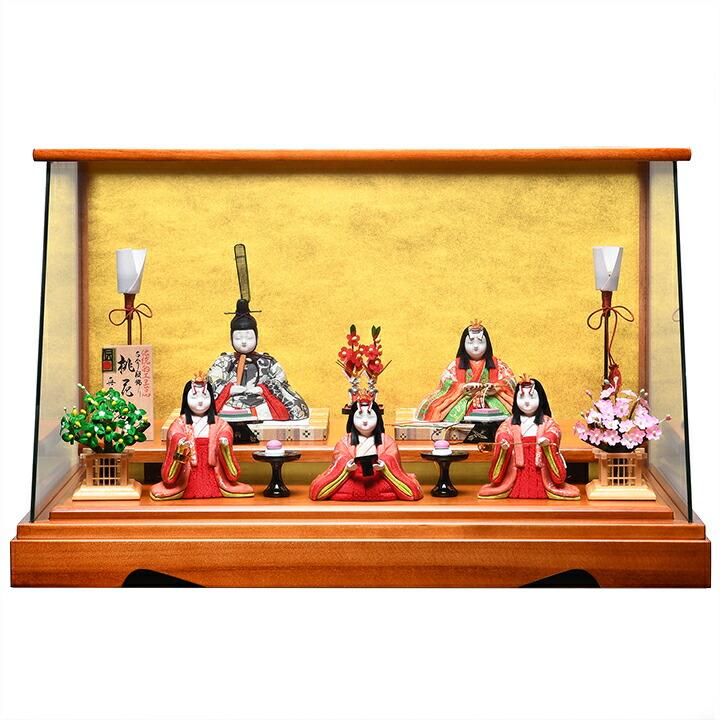 【雛人形】【ひな人形】【お雛様】【木目込五人・十五人雛】