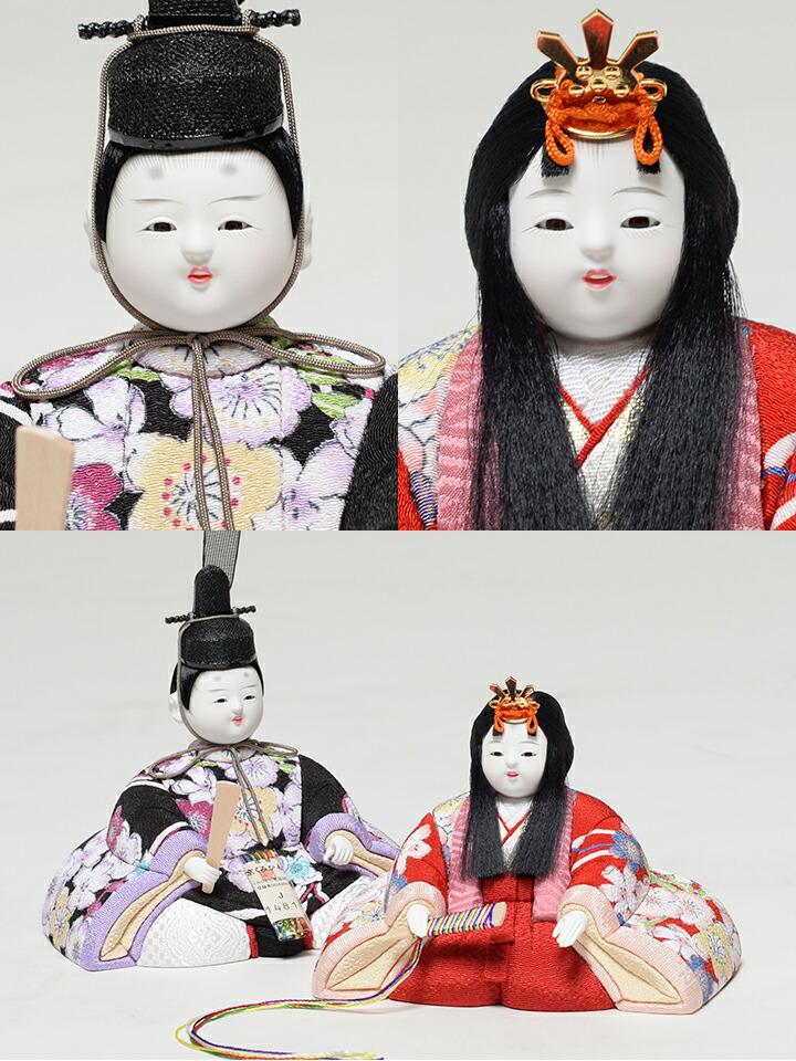 【雛人形】【ひな人形】【お雛様】【木目込み五人・十五人飾】