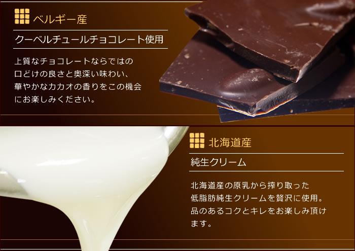 生チョコの原材料について