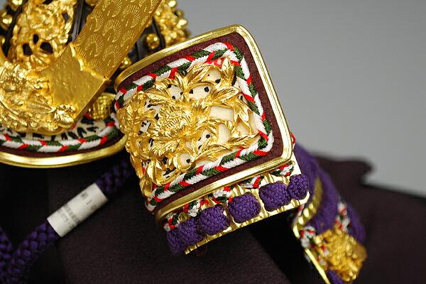 8号 紫糸裾濃縅之御兜 平安武久謹製