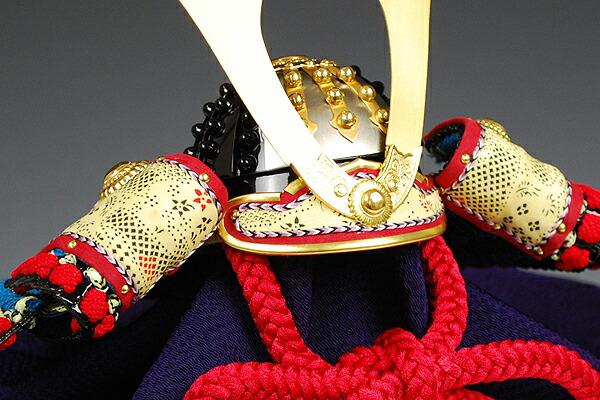 四分の一 笠錣縹糸縅之御甲冑 加藤一冑謹製