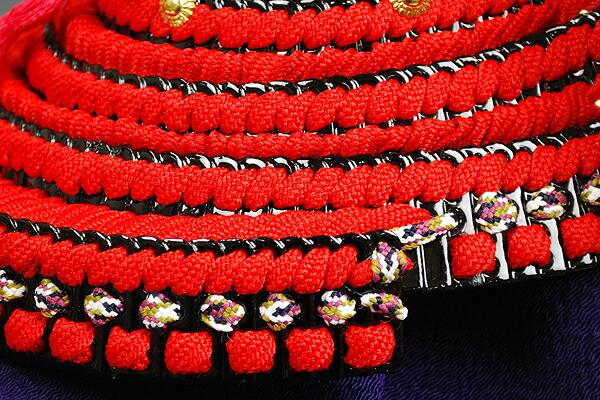 四分の一 赤糸長鍬之御甲冑収納飾り 加藤一冑謹製