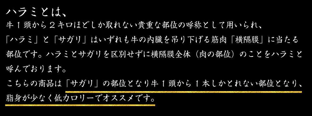 """ハラミとは"""""""