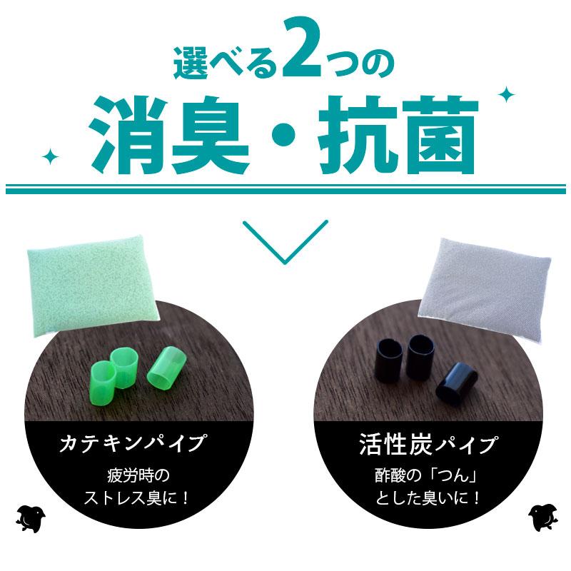 選べる2つの消臭・抗菌 カテキンパイプ 疲労時のストレス臭に!活性炭パイプ 酢酸の「つん」として臭いに!