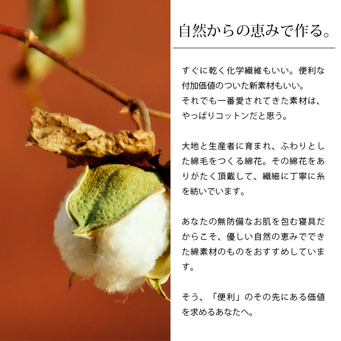 天然素材の綿