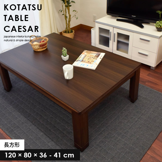 こたつテーブル 長方形 幅120cmタイプ 「シーザー」 家具調【大型便】