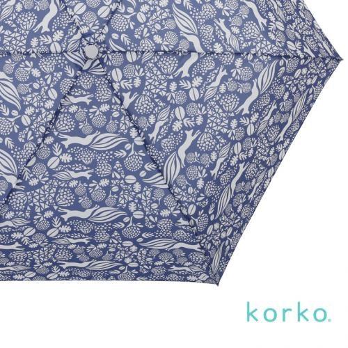 北欧デザイン Korko コルコ 自動開閉 折りたたみ傘 雨傘 55cm 『Klover』クローバーの花