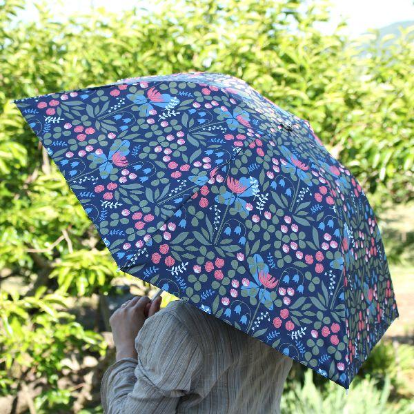 折りたたみ 日傘 晴雨兼用 北欧 デザイン Korko コルコ クイックオープン 50cm 『Flowery』 フラワリー 傘