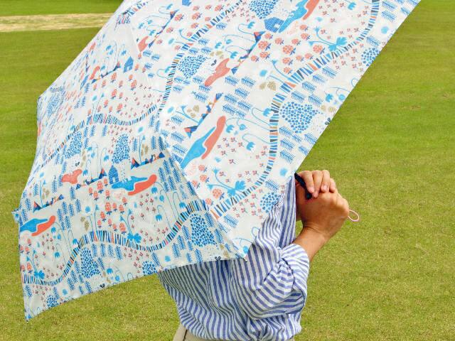 北欧デザイン Korko コルコ 自動開閉 折りたたみ傘 雨傘 55cm 『Harjedalen』 ヘリエダーレン