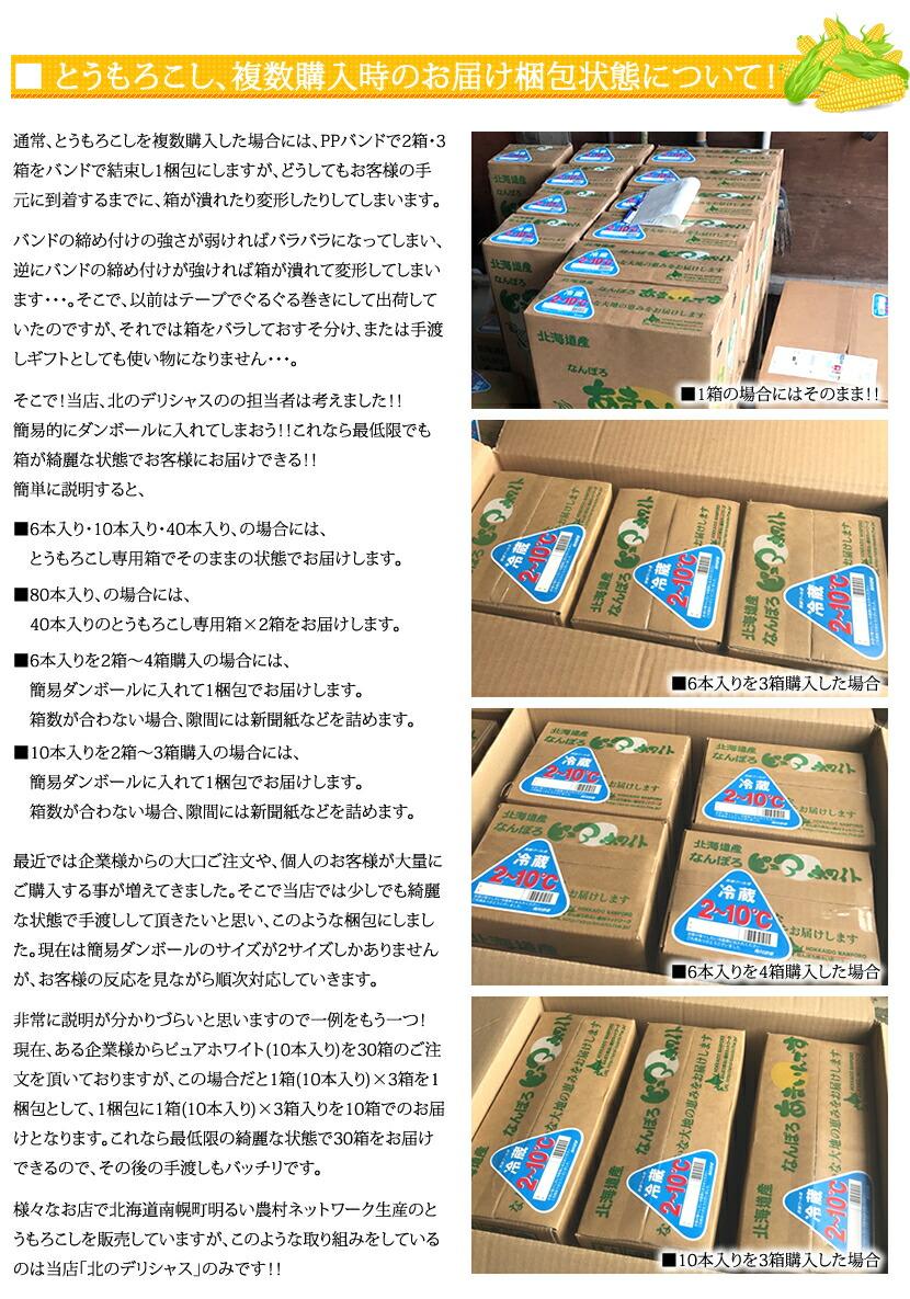 北海道産 南幌町明るい農村ネットワーク お届け梱包状態