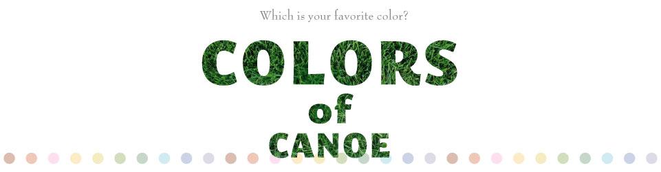 colors of canoe