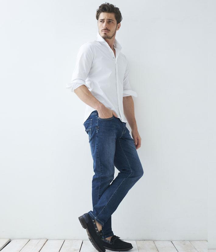 イタリアシャツ イタリア製シャツ メンズシャツ イタリア製 無地 ホワイト カッタウェイ 長袖 ストレッチ カジュアル 550661-108