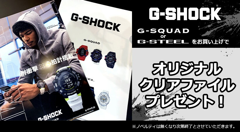 G-SQADorG-STEELクリアファイルプレゼント