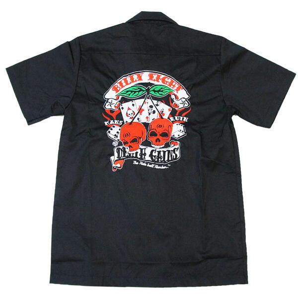 刺繍バイカーワークシャツ