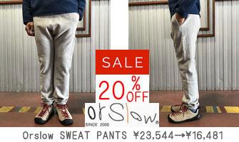 Orslow SWEAT PANTS