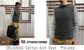 DELICIOUS Cotton Knit Vest