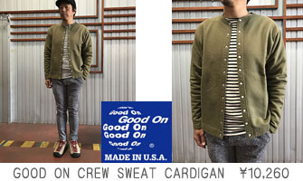 GOOD ON CREW SWEAT CARDIGAN