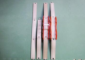 橋と直線レールの長さ比べ