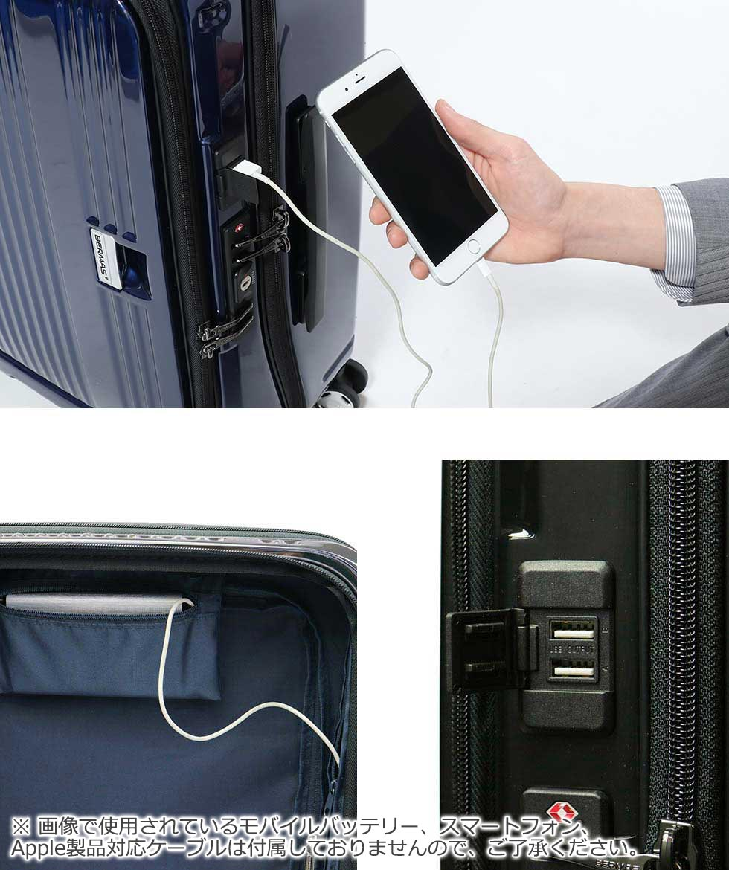 BERMAS EURO CITY Suitcase Front Open 55 L 3-5 Nights USB Port Travel  Business 60291