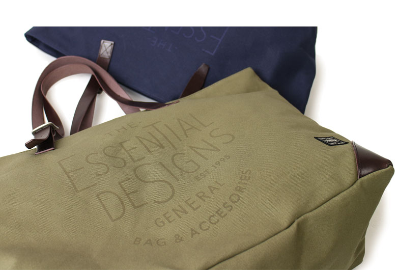 ESSENTIAL DESIGNS キャンバス×レザーシリーズ トートバッグ E143802
