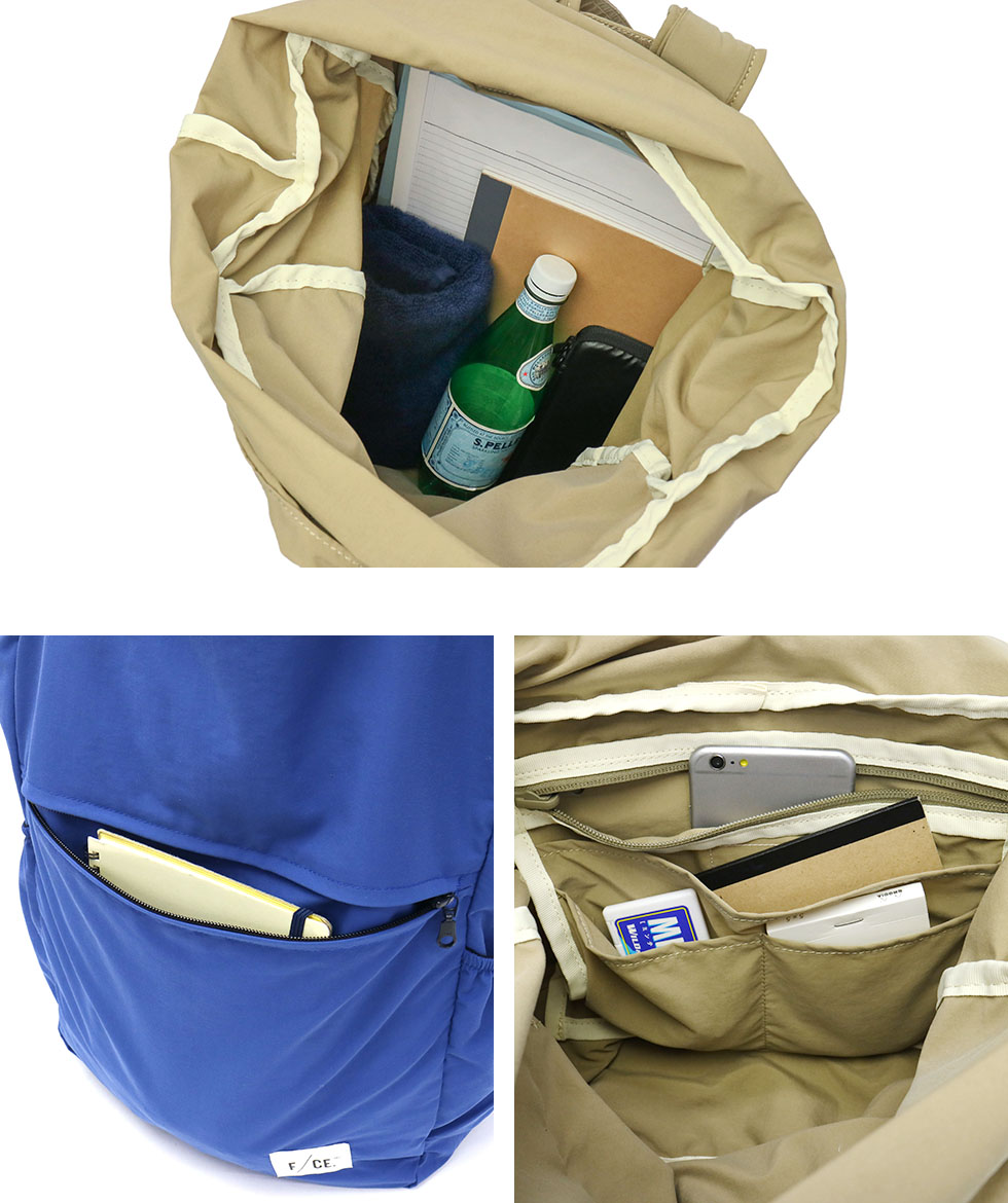 [SALE 30% OFF] F/CE  2WAY PACKABLE LINE PACKABLE TOTE packable Large  capacity large nylon mens womens commuting to school lightweight PK0006