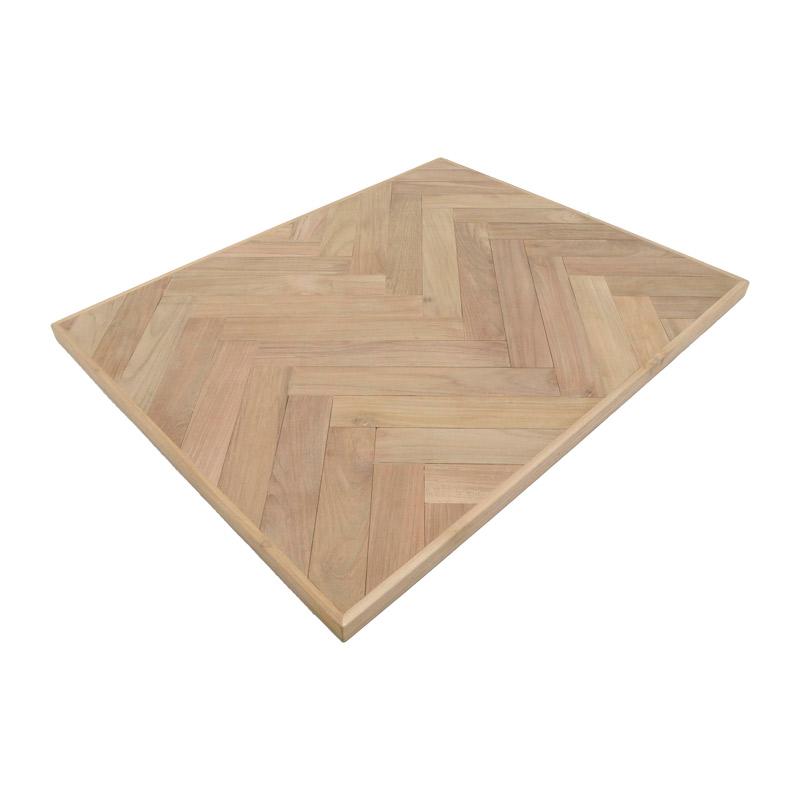 チーク・パーケット・テーブル・トップ(ヘリンボーン) 750×600mm