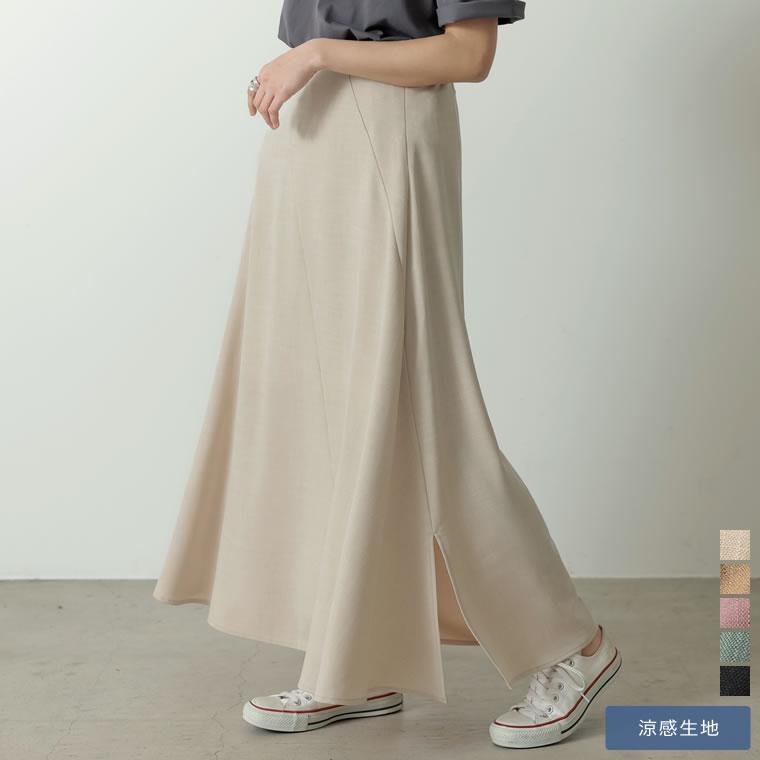 133181_[低身長/高身長サイズ有]リネンライクスパイラルナロースカート