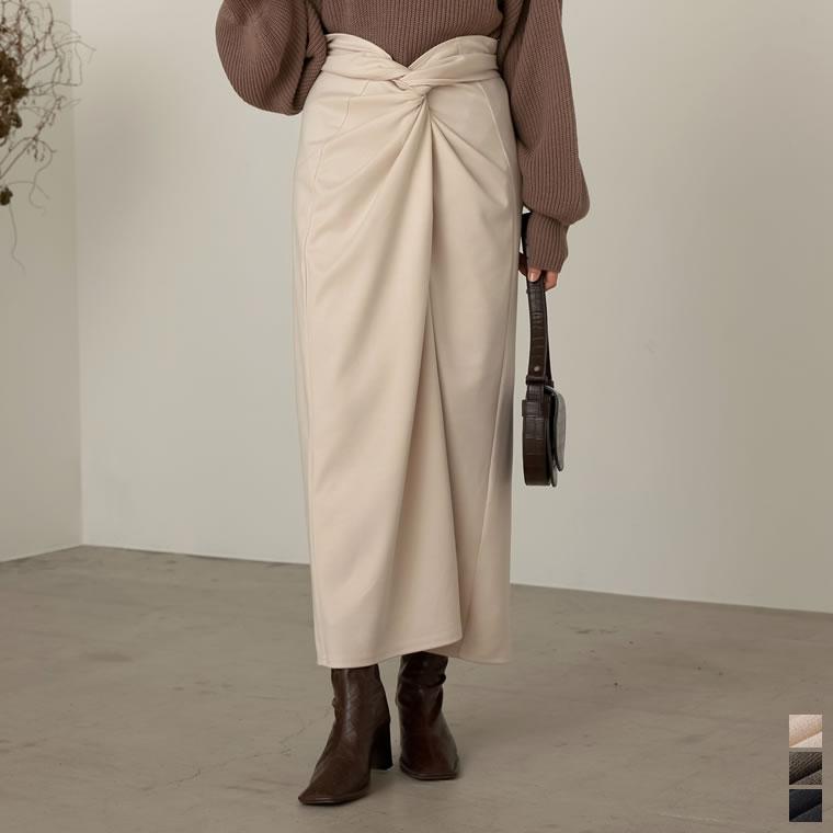 133589_[低身長向けSサイズ対応][お家で洗える]起毛ジャージーストレッチメニーウェイスカート