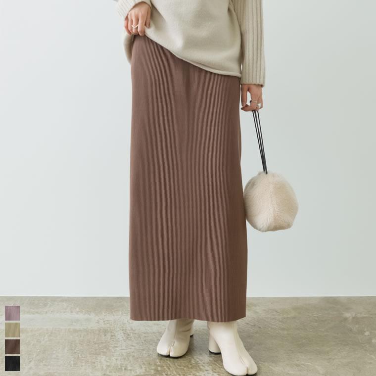 133655_コーデュロイ風プリーツIラインスカート