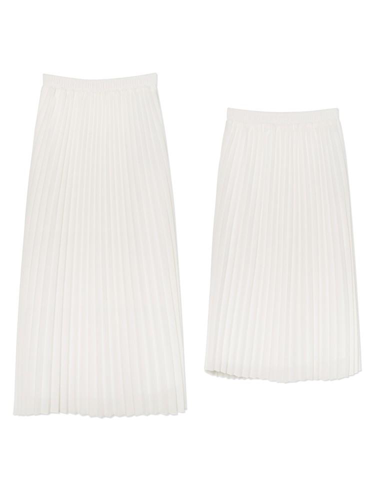 [低身長向け/高身長向けサイズ対応]丈が選べるジョーゼットプリーツスカート