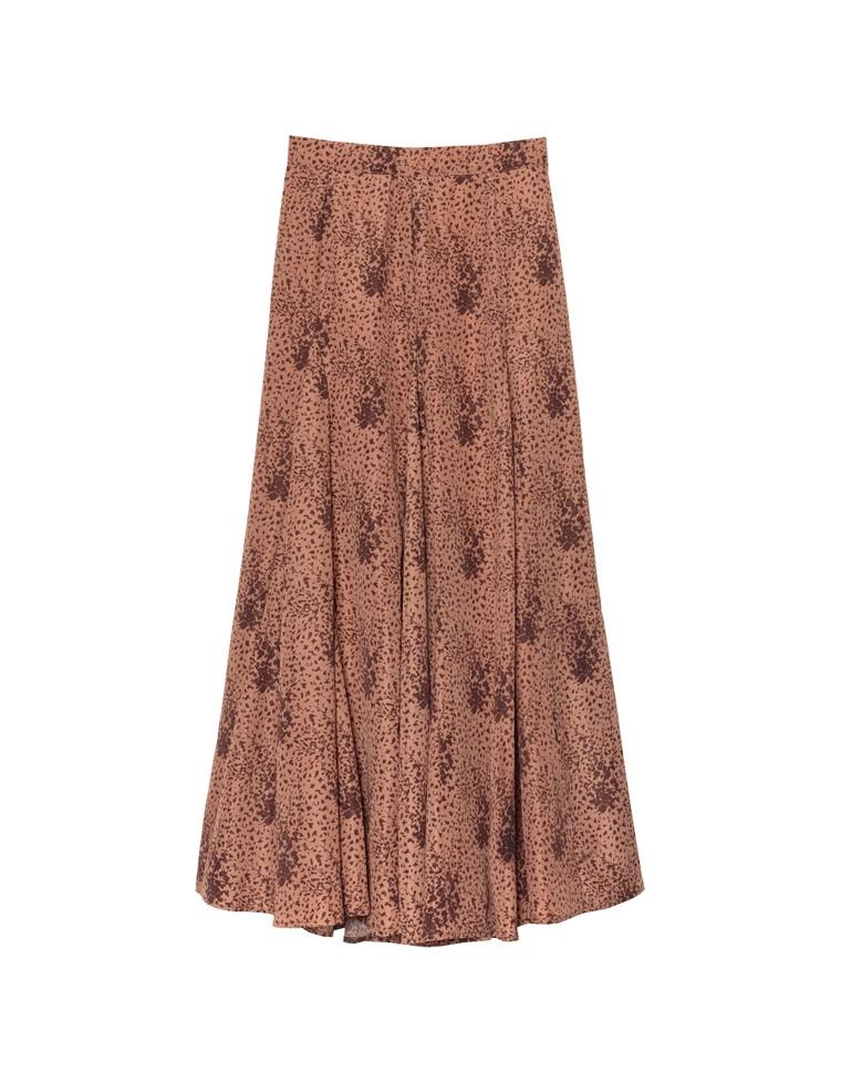 [低身長向けSサイズ対応]総柄フレアマキシスカート