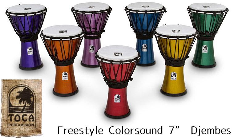 TOCA Percussion(トカ) TFCDJ-7MR ジャンベ 7インチ フリースタイルシリーズ