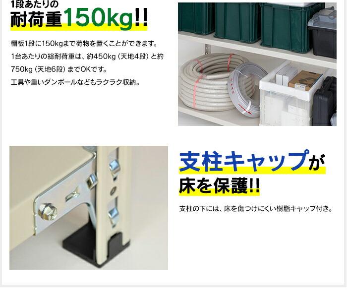 耐荷重150kg!支柱キャップで床を保護