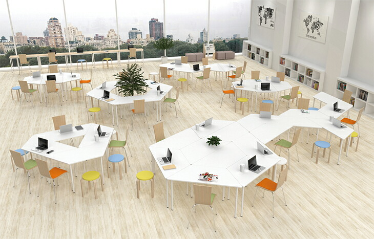 シンプルなカフェ風オフィス