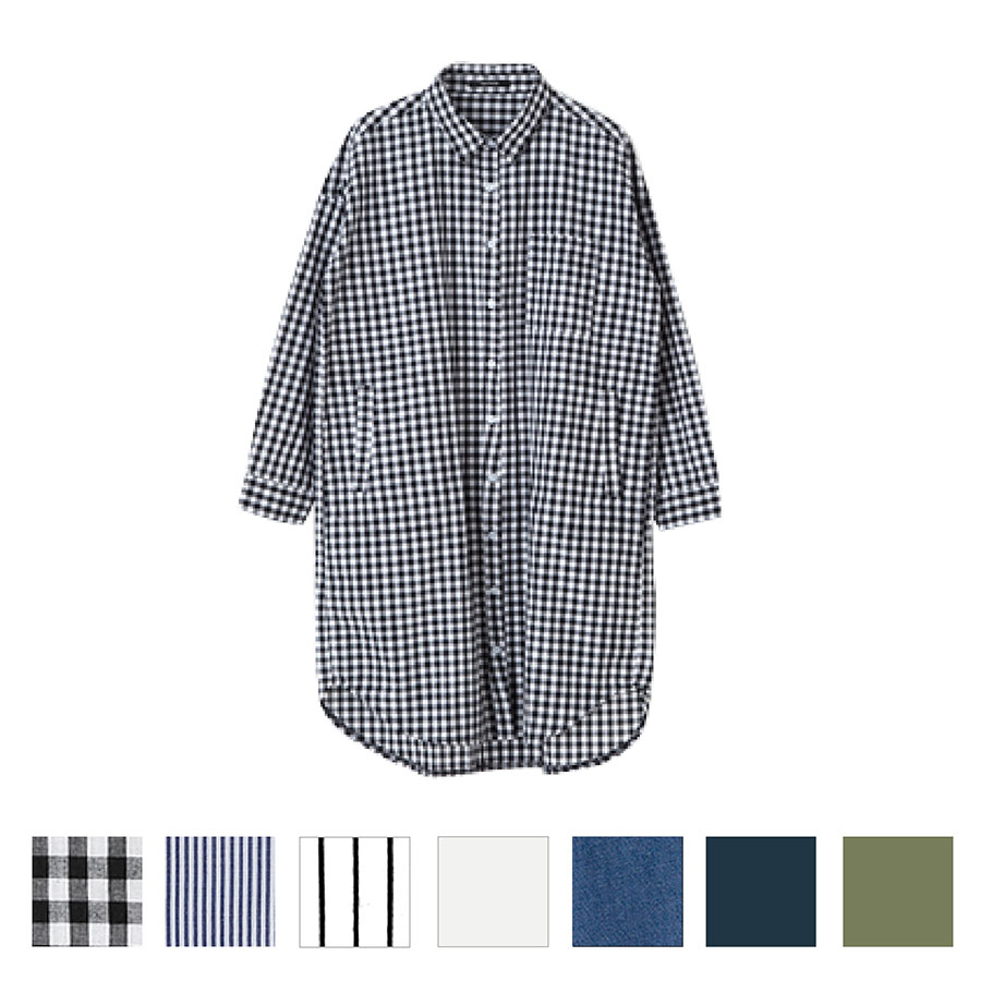 初夏コーデ コーディネート 羽織りロングシャツ