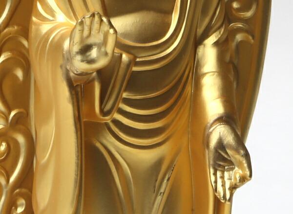仏像 阿弥陀如来 御西用 金 来迎印