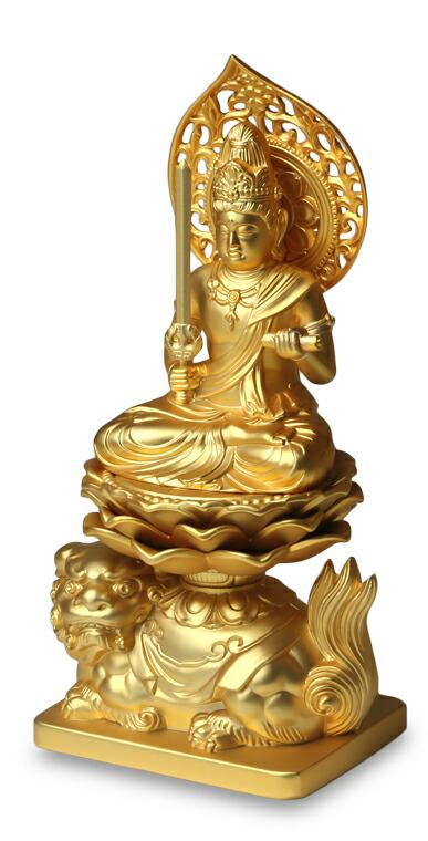 仏像 文殊菩薩 金