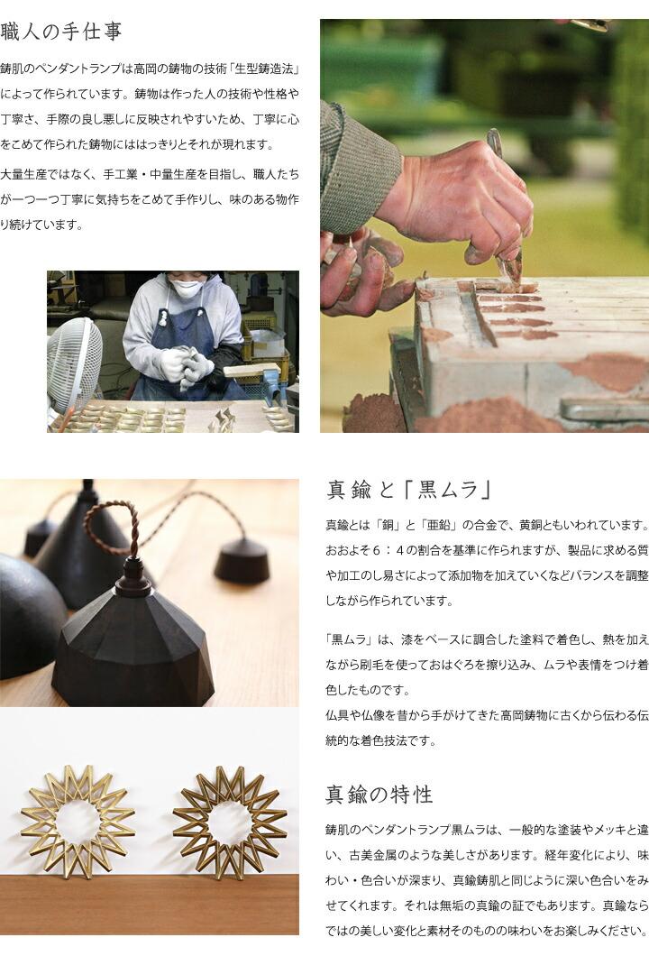 FUTAGAMI ペンダントランプ 黒ムラ 円錐